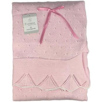 Copertina coperta scialle bimb bimba neonato Nazareno Gabrieli rosa