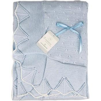 Copertina coperta scialle bimbo neonato Nazareno Gabrieli cielo