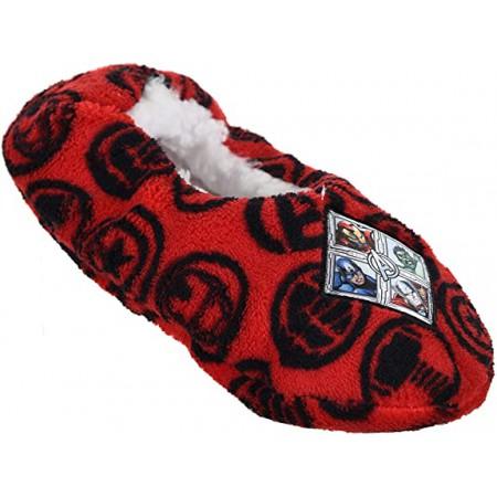 Pantofola ciabatta calza antiscivolo bambino avengers rosso