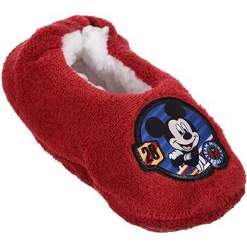Pantofola ciabatta calza antiscivolo bambino disney mickey rosso