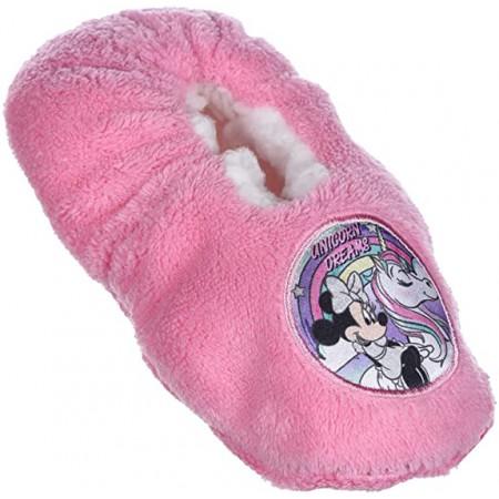 Pantofola ciabatta calza antiscivolo bambina disney minnie rosa