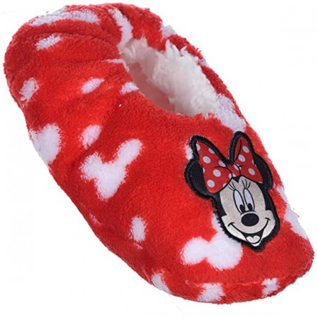 Pantofola ciabatta calza antiscivolo bambina disney minnie rosso