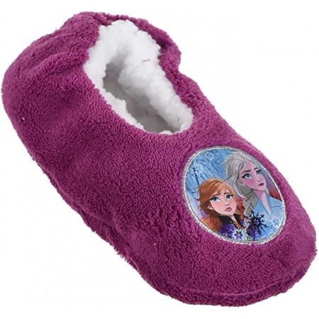 Pantofola ciabatta calza antiscivolo bambina disney frozen viola