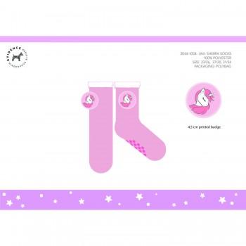 Calza calzino antiscivolo bimba bambina Unicorno rosa
