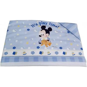 Completo 3pz culla carrozzina bimbo neonato lenzuolo stampa Mickey Disney baby