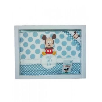 Completo 3pz lettino culla bimba neonato lenzuolo stampa Mickey ellepi Disney baby cielo