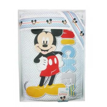 Completo 4pz lettino culla bimba neonato lenzuolo stampa Mickey ellepi Disney baby cielo