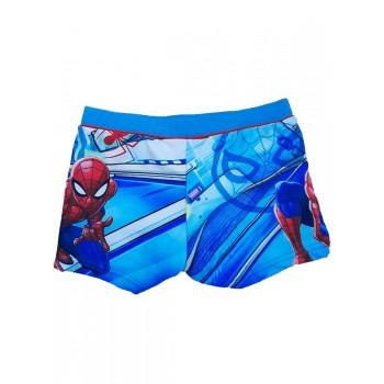 Costumino costume da bagno boxer bimbo bambino spiderman azzurro