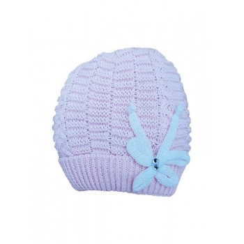Cappello cappellino artigianale cotone bimba nancy baby made in Italy rosa