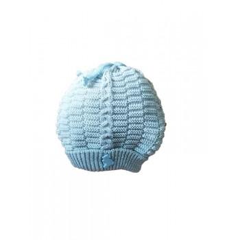Cappello cappellino artigianale cotone bimbo nancy baby made in Italy grigio