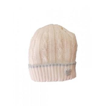 Cappello cappellino artigianale cotone bimbo nancy baby made in Italy bianco cielo