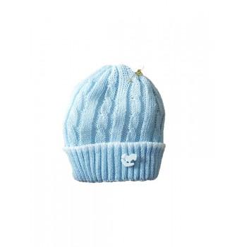 Cappello cappellino artigianale cotone bimbo nancy baby made in Italy  cielo