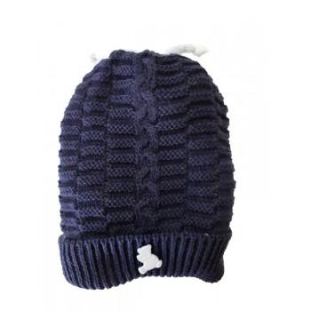 Cappello cappellino artigianale cotone bimbo nancy baby made in Italy blu