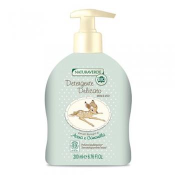 Sapone detergente biologico delicato mani e viso bimbo neonato Disney Bambi