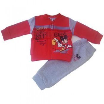 Completo tuta 2pz maglia maglietta pantalone bimbo neonato Disney baby Mickey