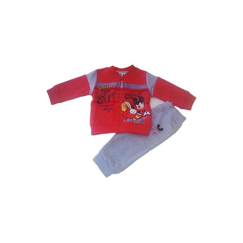 Completo 2pz Bimbo Cotone Disney Baby Mickey Bluette 12 Mesi ...