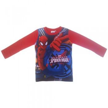 T-shirt maglia maglietta cotone bimbo bambino uomo ragno Spiderman rosso