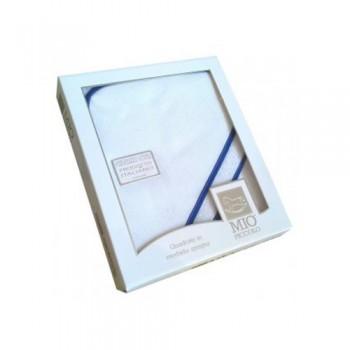 Accappatoio triangolo telo spugna aida Mio Piccolo bimbo neonato bianco blu